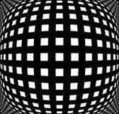 Grille, modèle de maille avec la déformation Configuration géométrique abstraite Photos stock