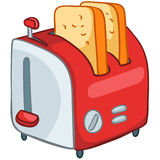 Grille-pain à la maison de cuisine de dessin animé Photos stock