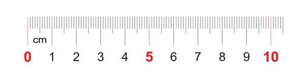 Grille pour une règle de 100 millimètres, 10 centimètres Grille de calibrage Division de valeur 1 millimètre