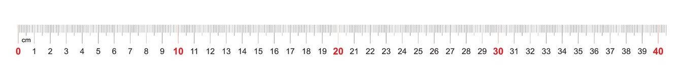 Grille pour une règle de 400 millimètres, 40 centimètres Grille de calibrage Division de valeur 1 millimètre