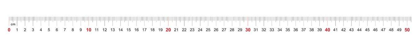 Grille pour une règle de 500 millimètres, 50 centimètres Grille de calibrage Division de valeur 1 millimètre