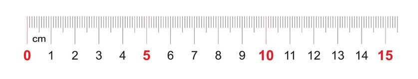 Grille pour une règle de 150 millimètres, 15 centimètres Grille de calibrage Division de valeur 1 millimètre