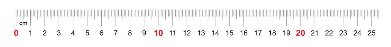 Grille pour une règle de 250 millimètres, 25 centimètres Grille de calibrage Division de valeur 1 millimètre