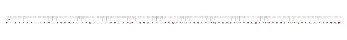 Grille pour une règle de 800 millimètres, 80 centimètres Grille de calibrage Division de valeur 1 millimètre