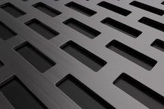 Grille rectangulaire en métal, gril de haut-parleur Images libres de droits