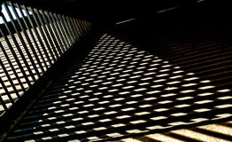 Grille on the roof and shade. stock photos