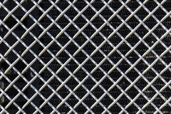 Grille from a Semi Tractor Trailer or Big Rig Truck for background picture II Stock Image