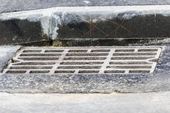 Grille street runoff Stock Image