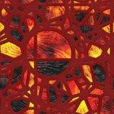 Grille verre-métal souillée par résumé Image libre de droits