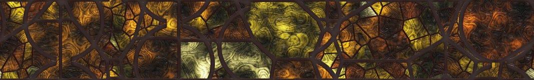 Grille verre-métal souillée par résumé Photos libres de droits