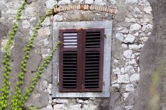 Grille wooden window royalty free stock photography