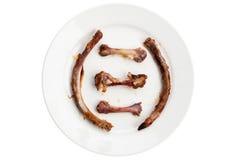 grilled猪排的骨头 库存图片