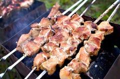 Grilled зажарило в духовке мясо Стоковое Изображение
