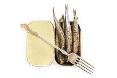 Grilled anchovies. Royalty Free Stock Images