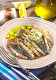 Grilled anchovy Royalty Free Stock Photo
