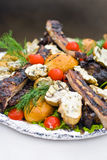 Grilled appetizer stock images