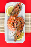 Grilled Argentinian Prawns Stock Photography