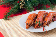 Grilled Argentinian Prawns Stock Image