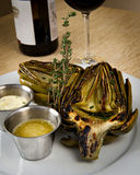 Grilled artichoke appetizer Royalty Free Stock Image