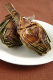 Grilled artichokes Royalty Free Stock Photos