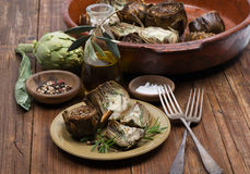 Grilled artichokes Royalty Free Stock Images