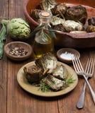 Grilled artichokes Stock Photo