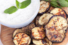 Grilled aubergine Royalty Free Stock Image