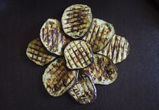 Grilled aubergine or a flower? Royalty Free Stock Photography