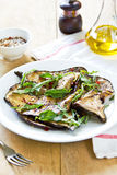 Grilled Aubergine salad with Rocket Stock Photos