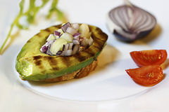 Grilled avocado Stock Image