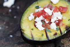 Grilled Avocados 2 Stock Photo