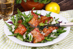 Grilled bacon and salad Stock Photography