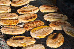 Grilled of  Banana Stock Images