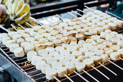 Grilled bananas. Delicious grilled bananas at thailand Royalty Free Stock Images