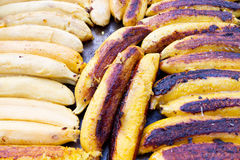 Grilled Bananas. Found on a market in Colombia Royalty Free Stock Photos