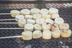Grilled bananas Royalty Free Stock Photography