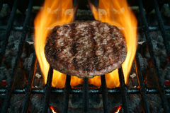 Grilled or barbacued burger Stock Photos