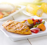 Grilled barbecue chicken royalty free stock photo
