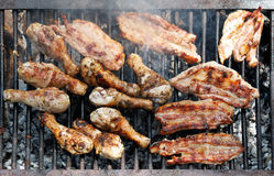 Grilled barbecue on outdoor Stock Photo
