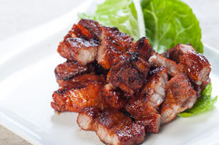 Grilled barbecue pork belly Stock Photo