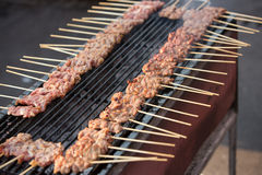 Grilled barbecue pork Royalty Free Stock Images