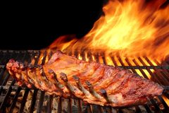 Grilled Barbecue Pork Ribs Royalty Free Stock Images