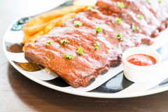 Grilled barbecue pork with sweet sauce Stock Photography