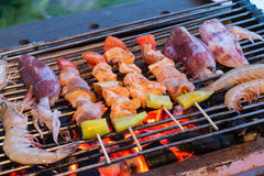 Grilled barbecue Royalty Free Stock Images