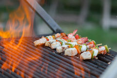 Grilled barbecued mixed seafood Royalty Free Stock Images