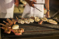 Grilled barbecued mixed seafood Royalty Free Stock Photography