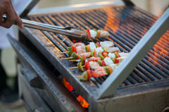 Grilled barbecued mixed seafood Royalty Free Stock Image