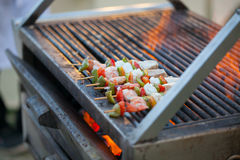 Grilled barbecued mixed seafood Royalty Free Stock Photos