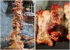 Grilled and barbecued pork Stock Photography