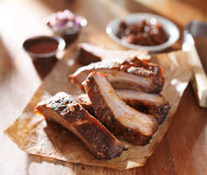 Grilled barbecued spare ribs Stock Images